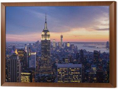 Obraz v Rámu New york