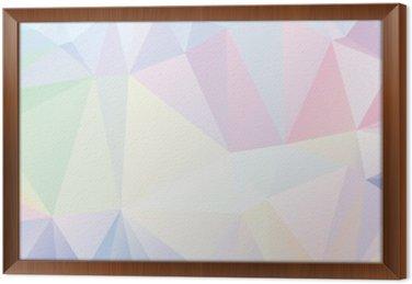 Obraz v Rámu Pastel Polygon Geometrická
