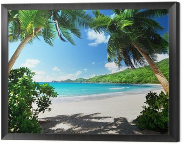 Obraz v Rámu Pláž, ostrov Mahe, Seychely