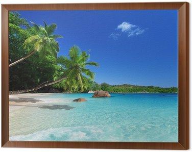 Obraz v Rámu Pláž u Ostrov Praslin, Seychely