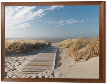 Obraz v Rámu Severní moře pláž v Langeoog