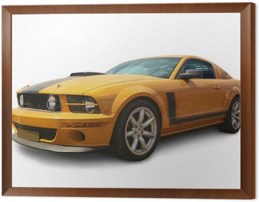 Obraz v Rámu Sporivny auto izolované