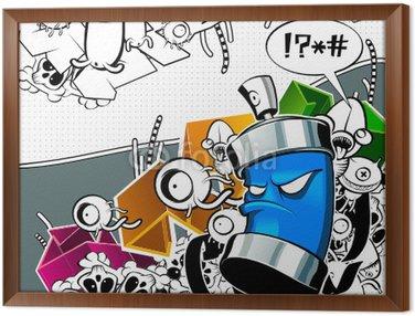 Obraz v Rámu Strange graffiti image s CAN