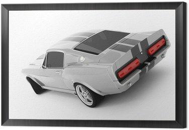 Obraz v Rámu Stříbrný Klasická Sports Car