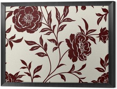 Obraz v Rámu Tapeta květinová