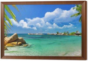 Obraz v Rámu Tropický ráj - Seychelské ostrovy