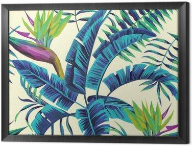 Obraz v Rámu Tropických exotické malba bezproblémové pozadí