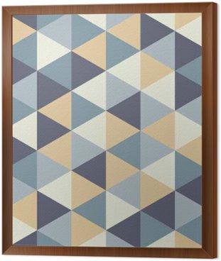 Obraz v Rámu Vector moderní bezešvé barevný geometrie trojúhelník vzor, barva abstraktní geometrické pozadí, polštář vícebarevný tisk, retro textura, hipster módní design