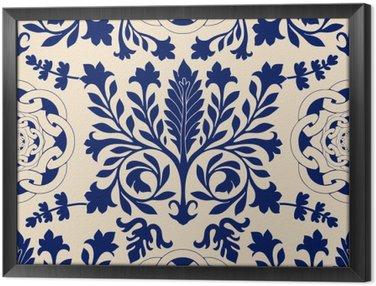Obraz v Rámu Vektorové bezešvé damašek vzor, klasický walpapper, pozadí