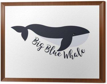 Obraz v Rámu Vektorové ilustrace velryba. Design symbol