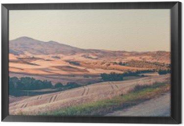 Obraz v Rámu Vintage toskánská krajina