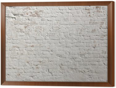 Obraz v Rámu White grunge cihlová zeď na pozadí