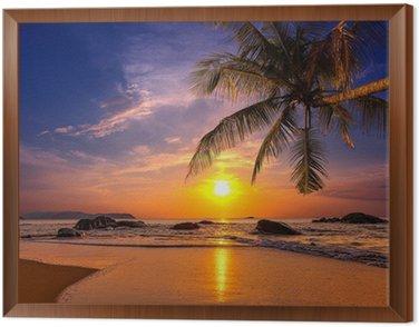 Obraz v Rámu Západ slunce nad mořem. Provincie Khao Lak v Thajsku