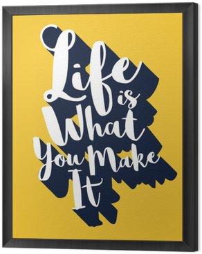 Obraz v Rámu Život je to, co budete dělat.