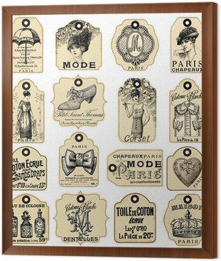 Obraz w Ramie 16 french retro etykiety