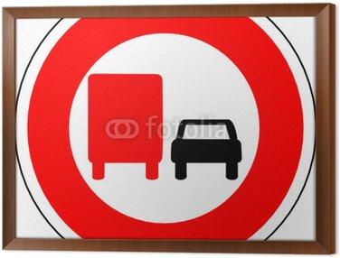 Obraz w Ramie A0150 - Control zakaz DOUBLE TRUCK CAR
