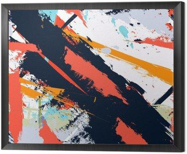 Obraz w Ramie Abstract Art grunge awaryjną bez szwu wzór