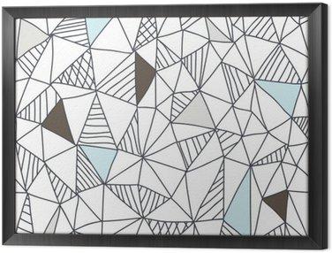 Obraz w Ramie Abstrakcyjna powtarzalny doodle wzór