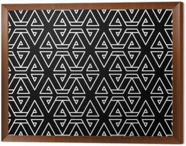 Obraz w Ramie Abstrakcyjne geometryczne czarno-białe hipster wzór mody poduszki