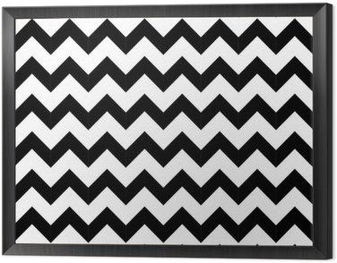 Obraz w Ramie Abstrakcyjne geometryczne zygzak szwu. wektor