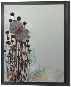 Obraz w Ramie Abstrakcyjne maki na łące