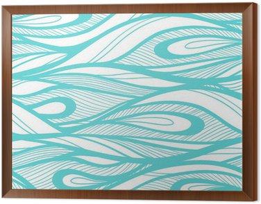 Obraz w Ramie Abstrakcyjne ręcznie rysowane ilustracja, tło fale.