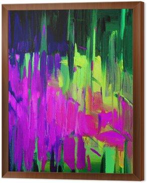 Obraz w Ramie Abstrakcyjny obraz olejny na płótnie dla wnętrz, patern, fundusz, patrona