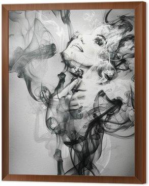 Obraz w Ramie Abstrakcyjny portret kobiety. Akwarele ilustracji