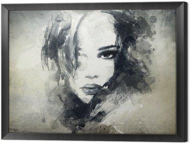 Obraz w Ramie Abstrakcyjny portret kobiety