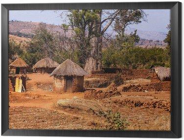 Obraz w Ramie Afrykańska wioska