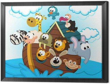 Obraz w Ramie Arka Noego z Animals - ilustracji wektorowych