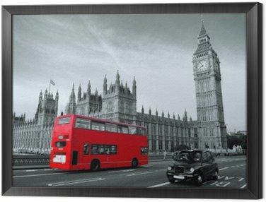 Obraz w Ramie Autobus w Londynie