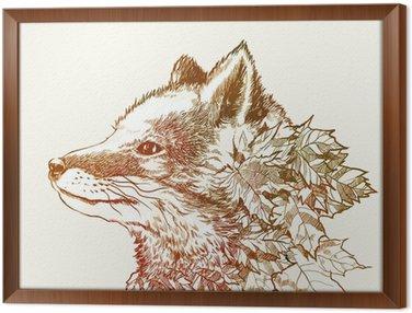 Obraz w Ramie Autumn fox
