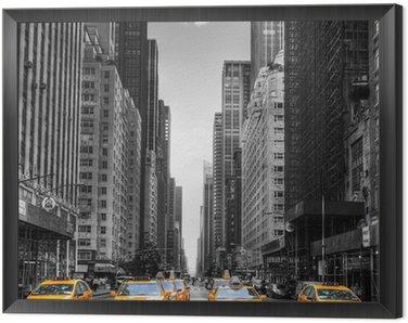 Obraz w Ramie Avenue z taksówki w Nowym Jorku.