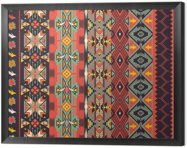 Obraz w Ramie Aztekowie szwu na gorącym kolorze