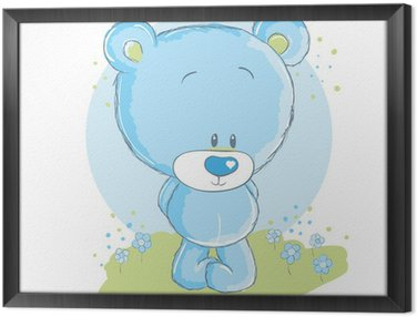 Obraz w Ramie Baby blue niedźwiedź