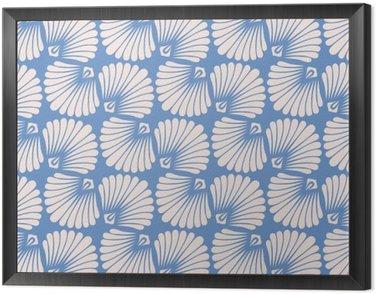 Obraz w Ramie Bez szwu rocznika wzór z stylizowane muszelek