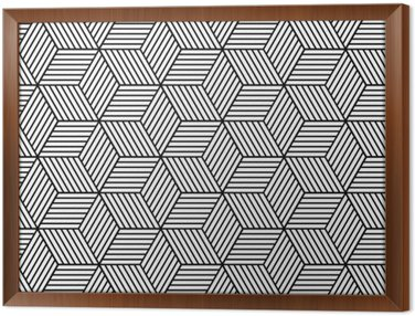 Obraz w Ramie Bezproblemowa geometryczny wzór z kostki.