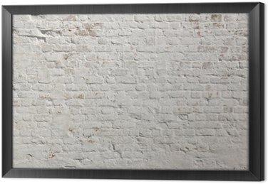 Obraz w Ramie Białe grunge ceglany mur w tle