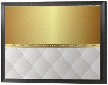 Obraz w Ramie Białe tło złoto