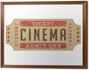 Obraz w Ramie Bilet do kina domowego