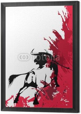 Obraz w Ramie Black bull-corrida