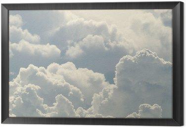 Obraz w Ramie Błękitne niebo i piękne chmury