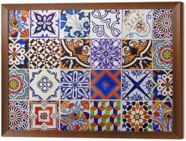 Obraz w Ramie Bliska tradycyjne płytki ceramiczne Lizbona