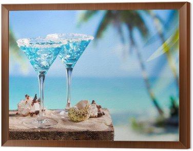 Obraz w Ramie Blue drink