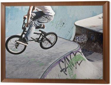 Obraz w Ramie BMX w skateparku