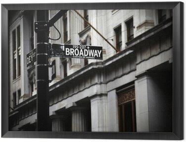 Obraz w Ramie Broadway znak