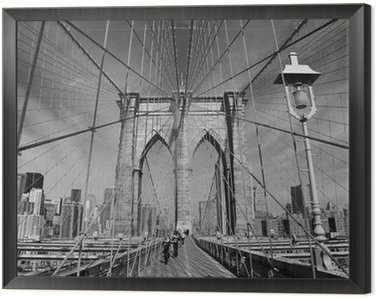 Obraz w Ramie Brooklyn Bridge, Nowy Jork