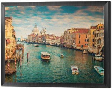 Obraz w Ramie Canal Grande w Wenecji, Włochy. stosowane filtr kolorów.