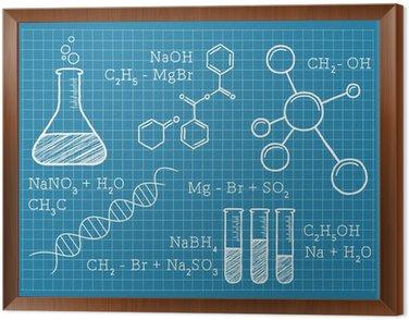 Obraz w Ramie Chemia, nauki, pierwiastki chemiczne